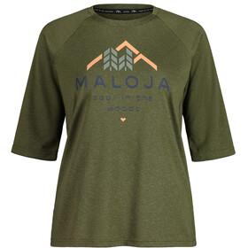 Maloja HimbeereM. 3/4 Sleeve All Mountain Jersey Women, verde oliva